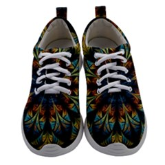 Fractal Flower Fantasy Floral Women Athletic Shoes by Wegoenart