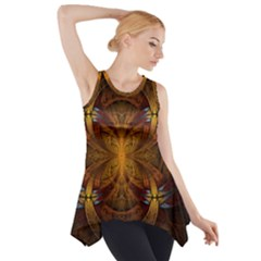 Fractal Art Abstract Pattern Side Drop Tank Tunic by Wegoenart