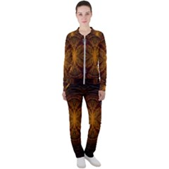 Fractal Art Abstract Pattern Casual Jacket And Pants Set by Wegoenart