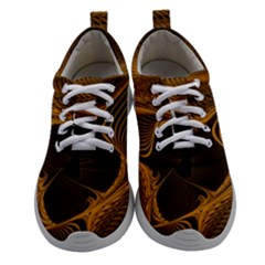 Fractal Design Background Pattern Women Athletic Shoes by Wegoenart