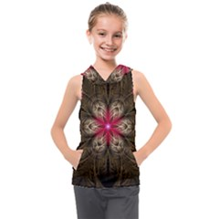 Fractal Background Design Abstract Kids  Sleeveless Hoodie by Wegoenart