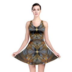 Fractal Art Abstract Pattern Reversible Skater Dress by Wegoenart