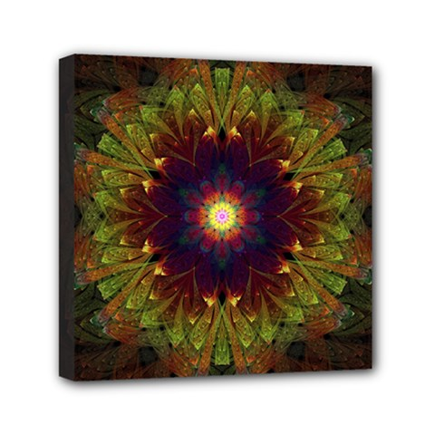 Art Abstract Fractal Pattern Mini Canvas 6  X 6  (stretched) by Wegoenart