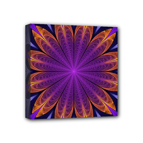 Art Abstract Fractal Pattern Mini Canvas 4  X 4  (stretched) by Wegoenart