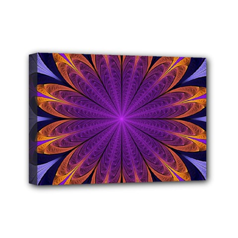 Art Abstract Fractal Pattern Mini Canvas 7  X 5  (stretched) by Wegoenart