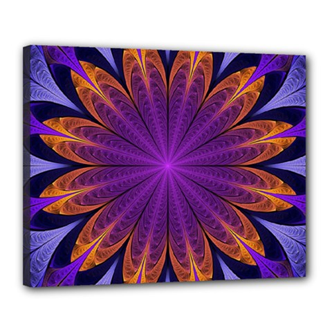 Art Abstract Fractal Pattern Canvas 20  X 16  (stretched) by Wegoenart