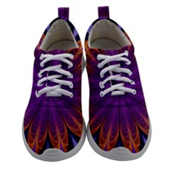 Art Abstract Fractal Pattern Women Athletic Shoes by Wegoenart