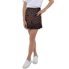 Fractal Abstract Background Pattern Kids  Tennis Skirt by Wegoenart