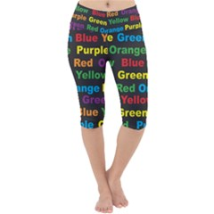 Red Yellow Blue Green Purple Lightweight Velour Cropped Yoga Leggings