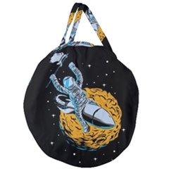 Astronaut Planet Space Science Giant Round Zipper Tote
