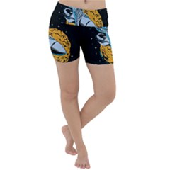 Astronaut Planet Space Science Lightweight Velour Yoga Shorts