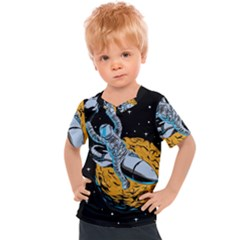 Astronaut Planet Space Science Kids  Sports Tee