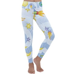 Science Fiction Outer Space Kids  Lightweight Velour Classic Yoga Leggings