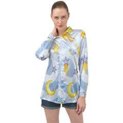 Science Fiction Outer Space Long Sleeve Satin Shirt