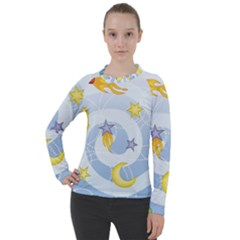 Science Fiction Outer Space Women s Pique Long Sleeve Tee