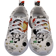 Astronaut Drawing Planet Kids Athletic Shoes