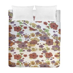 Multicolored Floral Collage Print Duvet Cover Double Side (full/ Double Size) by dflcprintsclothing