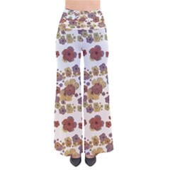 Multicolored Floral Collage Print So Vintage Palazzo Pants by dflcprintsclothing