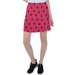 Seamless Watermelon Surface Texture Tennis Skirt