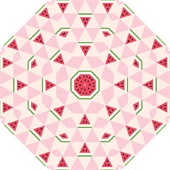 Seamless Pattern Watermelon Slices Geometric Style Hook Handle Umbrellas (small)