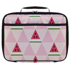 Seamless Pattern Watermelon Slices Geometric Style Full Print Lunch Bag