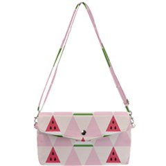 Seamless Pattern Watermelon Slices Geometric Style Removable Strap Clutch Bag by Nexatart