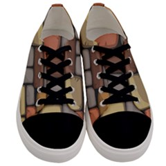 Colorful Brick Wall Texture Men s Low Top Canvas Sneakers