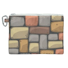 Colorful Brick Wall Texture Canvas Cosmetic Bag (xl)
