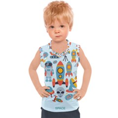 Space Elements Flat Kids  Sport Tank Top