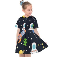 Space Astronomy Decorative Symbols Seamless Pattern Vector Illustration Kids  Sailor Dress