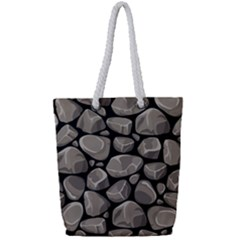 Rock Stone Seamless Pattern Full Print Rope Handle Tote (small)
