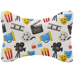 Cinema Icons Pattern Seamless Signs Symbols Collection Icon Seat Head Rest Cushion