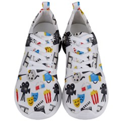 Cinema Icons Pattern Seamless Signs Symbols Collection Icon Men s Lightweight Sports Shoes