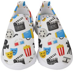 Cinema Icons Pattern Seamless Signs Symbols Collection Icon Kids  Slip On Sneakers
