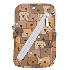 Cute Dog Seamless Pattern Background Belt Pouch Bag (large) by Nexatart