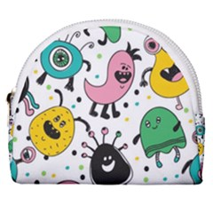 Funny Monster Pattern Horseshoe Style Canvas Pouch