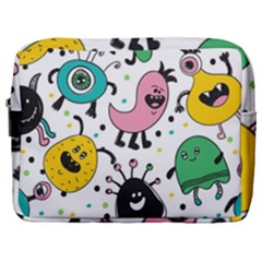Funny Monster Pattern Make Up Pouch (large) by Nexatart