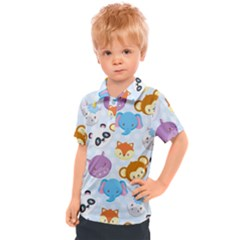 Animal Faces Collection Kids  Polo Tee