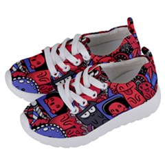 Abstract Grunge Urban Pattern With Monster Character Super Drawing Graffiti Style Vector Illustratio Kids  Lightweight Sports Shoes by Nexatart