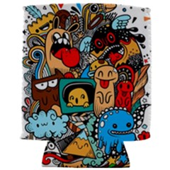 Abstract Grunge Urban Pattern With Monster Character Super Drawing Graffiti Style Can Holder