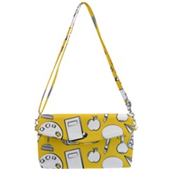 Pattern With Basketball Apple Paint Back School Illustration Removable Strap Clutch Bag