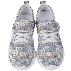 Cute Dog Seamless Pattern Background Women s Velcro Strap Shoes