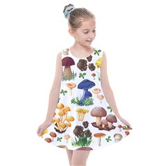 Mushroom Seamless Pattern Kids  Summer Dress