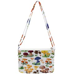 Mushroom Seamless Pattern Double Gusset Crossbody Bag