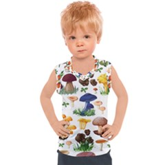 Mushroom Seamless Pattern Kids  Sport Tank Top