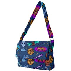 Space Sketch Set Colored Full Print Messenger Bag (l)