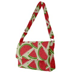 Cute Watermelon Seamless Pattern Full Print Messenger Bag (l) by Nexatart