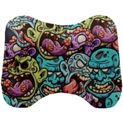 Zombie Heads Pattern Head Support Cushion