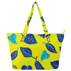 Leaves Pattern Picture Detail Full Print Shoulder Bag by Nexatart