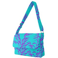 Branches Leaves Colors Summer Full Print Messenger Bag (l)